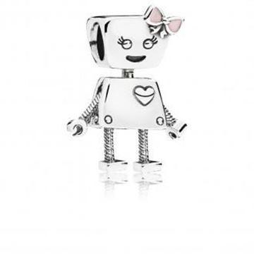 Picture of CHARM PLATA ESMALTE ROSA ROBOT
