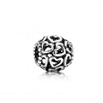 Picture of CHARM PLATA CORAZONES