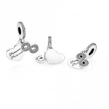 Picture of CHARM PLATA CIRC FOREVERFRIEND