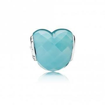 Picture of CHARM PLATA CRISTAL FACET AZUL