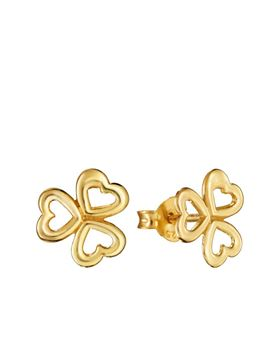Picture of PENDIENTES PLATA DE LEY CON BAÑO ORO 18KTES SRA JEWELS