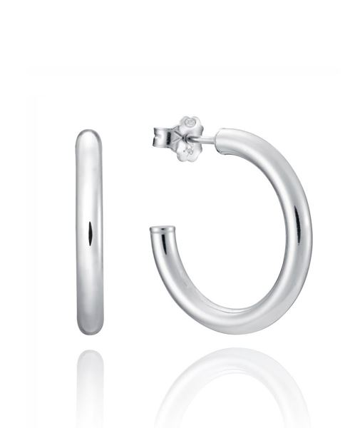 Picture of PENDIENTES PLATA TUBULAR MEDIANAS SRA JEWELS