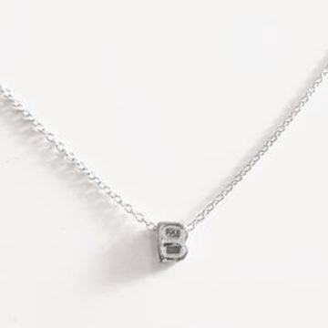 Picture of COLLAR PLATA INICIAL LETRA E RODIO