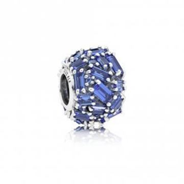 Picture of CHARM PLATA CIRSTAL AZUL HIELO