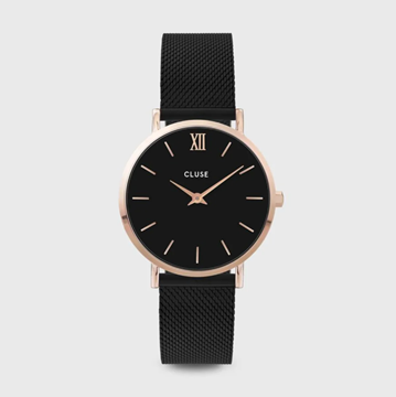 Picture of CLUSE Minuit Mesh Rose gold Black/Black 33mm.