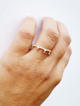 Foto de Sortija oro corona con circonitas