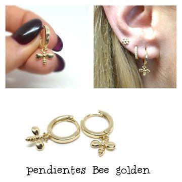 Picture of PENDIENTES CLICK ABEJA DORADO