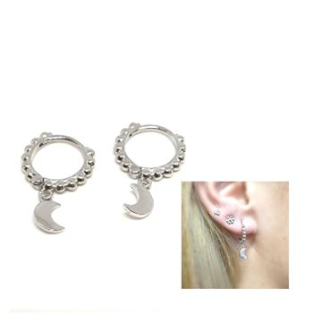 Picture of PENDIENTES CLICK ARO BOLAS LUNA RODIO