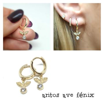 Picture of PENDIENTES CLICK AVE FENIX DORADO